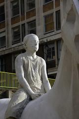 Thames horse sculpture (MJ Keane) Tags: thames vauxhall horsesculpture jasondecairestaylor