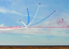 Breakaway (littlestschnauzer) Tags: show uk blue red sky team display air jets september arrows southport raf aerobatic 2015