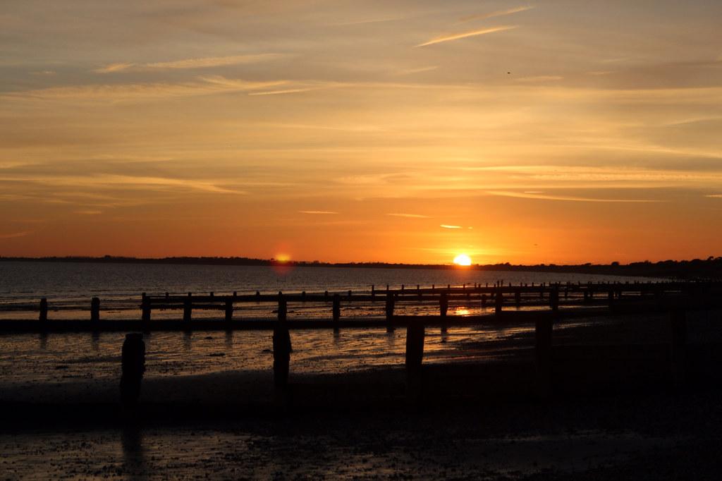 Sunset at Bognor Regis beach number three
