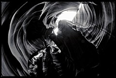 Antelope canyon (explore) (travelben) Tags: arizona usa abstract america blackwhite canyon fisheye page antelope navajo noirblanc samyang arizonausa