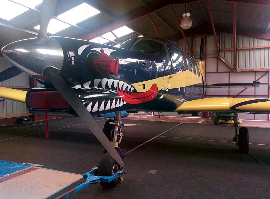 The million quid jump plane at Cark parachute club.