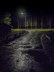 Hongistontie's bridge on rainy evening (LuonnonKuvaaja) Tags: road old bridge autumn creek dark puddle lights evening september rainy muddy gravel raahe hongistontie ylip latvaoja lasikangas