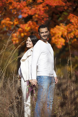 Maternity session (Raf Ferreira) Tags: autumn trees portrait toronto ontario canada fall colors colours dof maternity portraiture rafael leafs strobe gravida ferreira peixoto