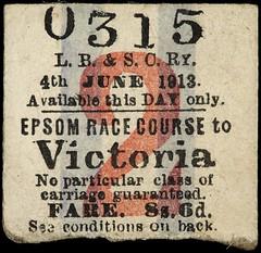 Emily Wilding Davison's Return Ticket, 1913-06-04.