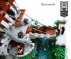 Riverwatch (Mitah Val Karem) Tags: bridge river lego lor fortress moc roawia