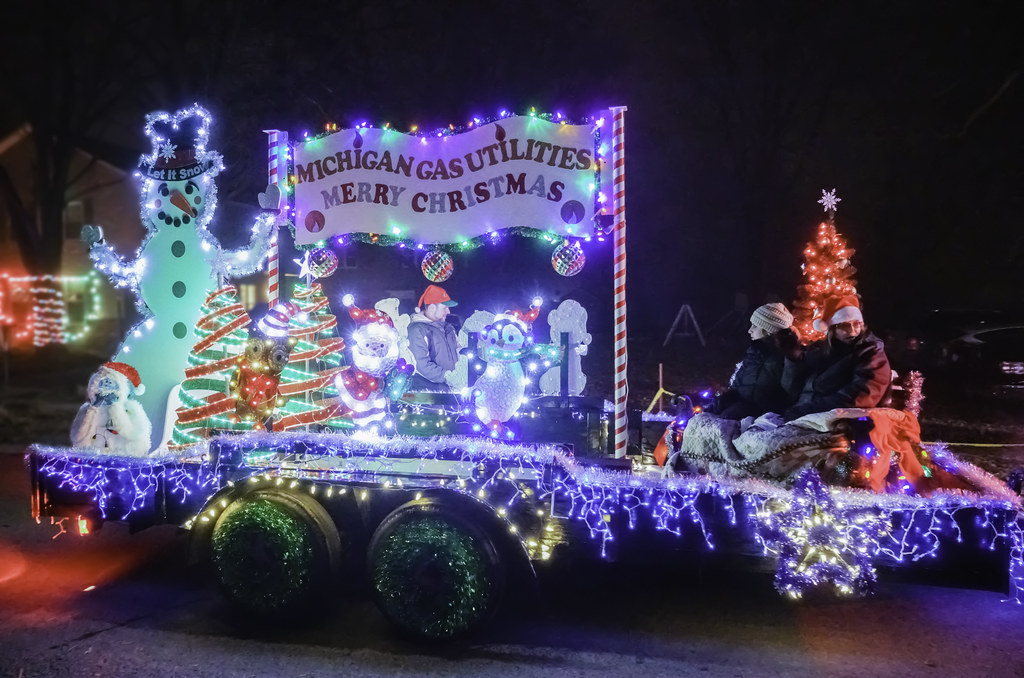 christmas in ida parade float 5 zensoup tags christmas winter light tractor - Christmas In Ida