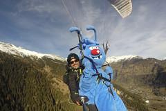 Gletschi Gleitschirmfliegen (aletscharena) Tags: aletscharena gleitschirm gleitschirmfliegen gletschi maskottchen schweiz wallis winter