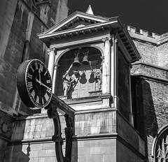 Time (julesnene) Tags: canon7dmark2 canon7dmarkii europe juliasumangil london bw bell clock julesnene shadow time travel cliffordsinnpassage england unitedkingdom gb