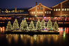Christmas lights at Solsiden (Helena Normark) Tags: christmaslights bluehour solsiden nedreelvehavn trondheim sørtrøndelag norway norge sonyalpha7 a7 voigtländer voigtlanderultron21mmf18 cv2118