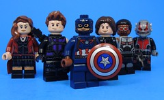 Team Cap (MrKjito) Tags: lego super hero comics comic marvel cinematic unvierse captain america civil war team cap stark iron man minifig