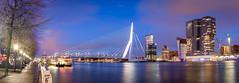 Erasmus Bridge (Martijn Bergsma) Tags: rotterdam erasmus erasmusbrug bridge brug sunset zonsondergang kopvanzuid derotterdam kade