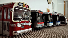 Model Bus Collection (4) (Alexander Ly) Tags: wmata washington dc metro montreal montrealnord nord quebec canada autobus bus model toy transit city scale reduit mta ttc new york orion vii gm look articulated articulé group nabi 60brt cng 60 brt jouet