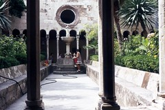 Franciscan Cloisters (Andy961) Tags: yugoslavia croatia dubrovnik monastery courtyard fountain fountains