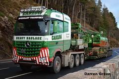 CADZOW HEAVY HAULAGE MERCEDES AROCS 8X4 510 SJ64 SLV (denzil31) Tags: cadzow heavyhaulage mercedes arocs slt 8x4 nooteboomtrailers nooteboom bam crawler crane stgocat3 a82