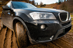 Filthy Fun! There's an off-roading track... (grahamrobb888) Tags: nikon nikond800 sigma sigma20mmf18 scotland perthshire dunkeld mud bmw beemer 4x4 x3