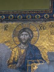 "Hagia Sofia Church, begun 532 AD. The Deësis mosaic (Δέησις, ""Entreaty"") (Kevin J. Norman) Tags: hagiasofia istanbul turkey deësis"