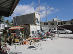 Generators big as containers helping out with powersupply in Betio, Kiribati!