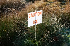 Caution Ice (tim ellis) Tags: suttonpark park wyndley wyndleygate caution ice sign warning suttoncoldfield uk