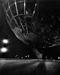 For the World is Hollow and I Have Touched the Sky (george.bremer) Tags: 4x5 caffenolcl epson fairgrounds film flushingmeadows hp5 ilford largeformat leonardo longexposure newyork nyc park pinhole queens scan unisphere v750 winter worldsfair