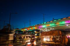 United Colors of Manila (Blue Nozomi) Tags: manila color jeep jeepney edsa road highway hiway 54 bus transport bridge light sunset blue sky twilight