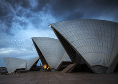 Opera House Blues (Tracey Whitefoot) Tags: 2016 tracey whitefoot sydney australia opera house bennelong point performing arts venue long exposure blue hour city empty no people
