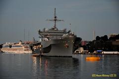 USS Mount Whitney. (Papa Razzi1) Tags: 8594 2016 177365 ussmountwhitney naval navy us ship summer sweden stockholm sea twilight