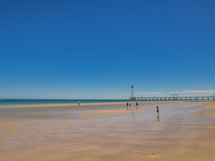 Brighton Beach (Anthony's Olympus Adventures) Tags: adelaide southaustralia sa australia beach jetty pier sand ocean water sea gulfstvincent afternoon sunny sky summer shore view beachscene olympusem10 olympus olympusomd photo photography lightroom flickr beautiful wow amazing colour color vibrant scene