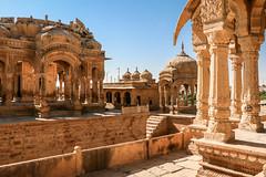 Royal cenotaphs of Maharajas in Bada Bagh, Jaisalmer, India ジャイサルメール バダ・バーグの王家の墓 (travelingmipo) Tags: travel photo india asia 旅行 写真 インド アジア rajasthan ラジャスタン ラジャスターン goldencity ゴールデン・シティ jaisalmer ジャイサルメール badabagh barabagh バダ・バーグ architecture cenotaph chhatri arch dome decoration decorative pavilion monument