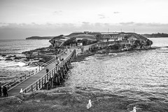 Bare Island Fort La Perouse (Manny Esguerra) Tags: outdoors beach landscapes sydney bw