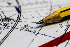 Office (Der Jamaikaner) Tags: technicaldrawing pencil lines stift büro plan zeichnen technischeszeichnen anspitzen