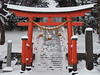 Red Torii Gate (murozo) Tags: red snow torii gate shrine winter nikaho akita japan 赤 鳥居 神社 雪 冬 にかほ 秋田 日本