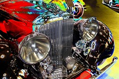 Psychedelic 1936 Bentley Derby 4.24 Litre Alloy-bodied sports saloon (Pete_Sy) Tags: psychedelic 1936 bentley derby 425litre liter alloy alloybodied sports saloon digitalart digitallyaltered