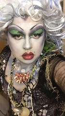 Ursula Makeup (grumpyfaeries) Tags: disney ursula sea witch costume cosplay maleficent design sewing horns headdress makeup art wig tentacle tentacles seaweed gloves acrylic barnacles seashell shell nautilus