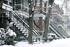 Montreal (Marie.L.Manzor) Tags: montreal canada snow street architecture quebec nikon d610 marielmanzor city building cityscape winter steeps trees winterscene cold stairs houses 1000favs 1000favorites