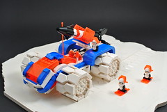 Ice-Sat B (CeciΙie) Tags: lego moc iceplanet iceplanet2002 pengin 2002 ice rover febrovery snow tracks wheels