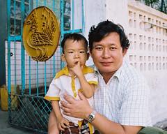 Father and Son (Tim Roper) Tags: 35mm leica myanmar film portra160 father son portrait burma summiluxm mawlamyine moulmein mon street 160 portra kodak