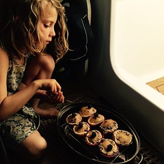 DB and her blackberry cupcakes.