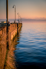 langenargen pier (Drivingwood) Tags: sunset pier constance lake water bodensee germany sun sky color alps