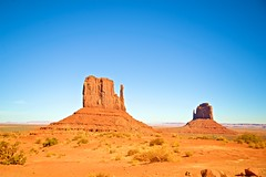 Right and Left Mitten (Herculeus.) Tags: 2016 bouldersstonerocks butte clouds country day erosion fall landscape landscapes mesa monumentvalley nativeamerican navaho navahonation oct outdoor rockoutcrop shadows stratusclouds6kfeet ut nature iconicimages valley sand monument sky rock