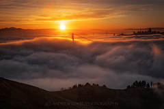 First Light (Andrew Louie Photography) Tags: golden gate bridge fog first light epic landscape sunrise san francisco spring burn lfe colors andrew louie photography passion life camera