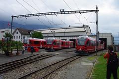 IMGP7803 (Alvier) Tags: schweiz graubünden rhb rhätischebahn landquart hauptwerkstätte tagderoffenentür triebfahrzeuge lokomotiven taufe triebzüge