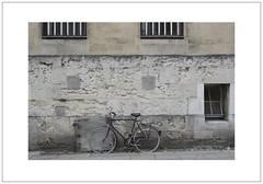 Oxford Bikes 2 (Pictures from the Ghost Garden) Tags: street windows urban architecture buildings lens landscape nikon 28mm bikes bicycles oxford oxfordshire voigtlnder grilles doubleyellowlines urbanlandscape colorskopar parkingrestrictions d7100