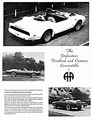 1980 Firebird and Camaro Convertibles by A.H.A. (Canada) (aldenjewell) Tags: toronto ontario canada chevrolet conversion convertible camaro firebird pontiac 1980 brochure aha