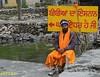 29 One of the guards at Hemkund Gurudwara (xerx_pictive) Tags: hemkund sarovar brahmakamal