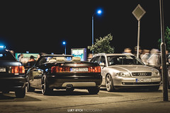 Illegal Night #4 - Koice (Luky Rych) Tags: road skyline vw night speed canon honda golf mercedes benz nissan seat rally 911 fast renault leon porsche silvia illegal toyota bmw static civic slovakia a4 audi tuning r33 meet lada decent a6 lexus stance camber 964 optima e36 mk4 mk5 koda koice 100d airide dikymoc kopaaut