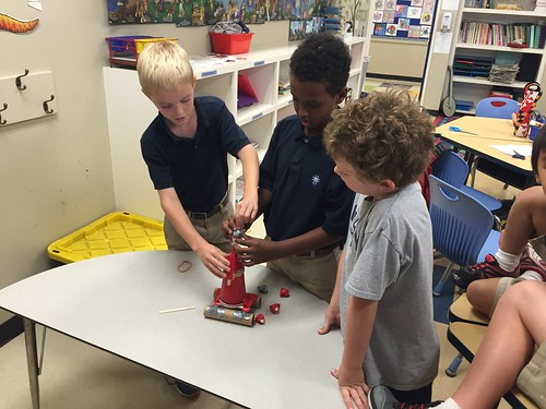 Catapults in STEM Club by Wesley Fryer, on Flickr