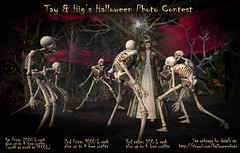 """Tayren and Hig's Halloween Photo Contest Poster #3: """"The Re-Animator"""" (Tayren Theas) Tags: costumes halloween photoshop photography photo clothing wizard magic avatar contest haunted professional sl fantasy secondlife mens ghosts witches skeletons zombies photocontest prizes amateur hauntedhouse roleplay freebies higs lindens slevent scarycarnival tayrentheas tayrensfantasyfashions higbing"""