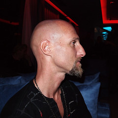 Flames shaved into beard
