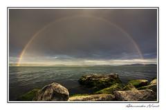 Arcobaleno - Rainbow (Alessandro Nenci) Tags: light sky italy sun lake clouds canon lago eos rainbow italia sigma arcobaleno umbria trasimeno 6d autofocus 1530