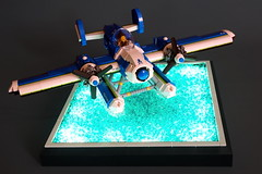 deep blue sea (SyBricks) Tags: sky plane airplane lego aircraft air seaplane aeroboat moc skyfi daphnia sylon sylontw